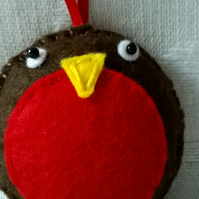 Cute Felt Robin Christmas Tree Decoration or Stocking Filler