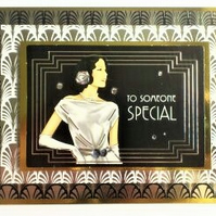 Luxurious 1920's Style Card - To Someone Special - Free Postage