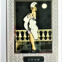 Glamorous 1920's Card - For You - Free Postage