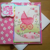 New Baby Card - Litte One - Pink