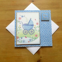 New Baby Card - Baby Boy - Blue