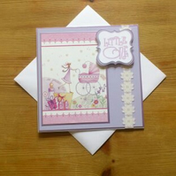 New Baby Card - The Greatest Gift - Lavender