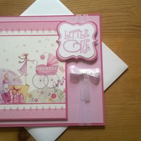 New Baby Card - The Greatest Gift - Pink