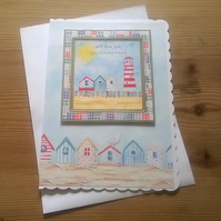 Seaside Retirement Card - Free Postage