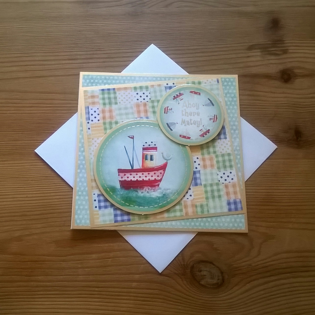 Ahoy There Matey! card - Free Postage