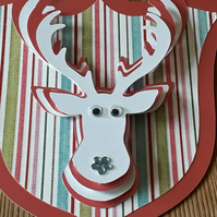 Stag Head Wall Decoration - Blue nose