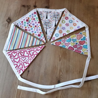 Bright and Pretty Fabric Bunting – 6 Flags