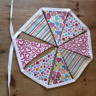 Bright and Pretty Fabric Bunting – 8 Flags