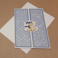 Rabbit Gate-fold Card in Blue