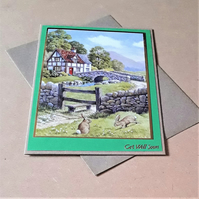 Countryside Get Well Soon Card