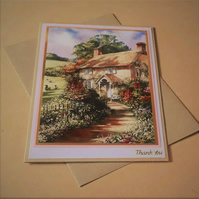 Country Cottage Thank You Card