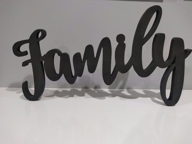 Wood Word Family Wooden Word Wood Letters Wall Sign Wall Art Home Decor