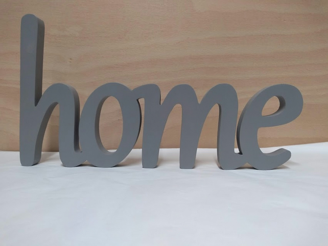 Wood Word Home Wooden Word Wood Letters Wall Sign Wall Art Home Decor Wood Sign