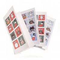 Cute Cat Christmas Cards - set of 4.