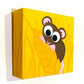 Cute Harvest Mouse Small Canvas Art - original acrylic painting of a brown mouse