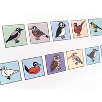 Cryptic Birds Birthday Card - cute European birds spell happy birthday. CT-YBB