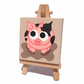 Mini Pig Painting - cute spotty pig original acrylic art on a miniature canvas