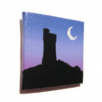 Castle Hill at Dusk Magnet - original Huddersfield landscape fridge magnet