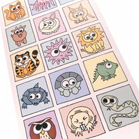 Cryptic Congratulations Card - cute animals spell out message. CT-YCG