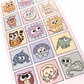 Cryptic Congratulations Card - cute animals spell out message