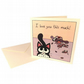 Gifts from the Cat Card - love card with cartoon cat and dead animals