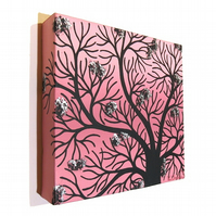 Cherry Blossom Tree Original Canvas Art