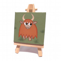 Highland Cow Original Mini Art