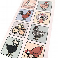 Cartoon Chicken Card - blank inside - neutral card with cute chickens