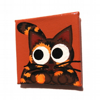 Handpainted Tortoiseshell Cat Fridge Magnet