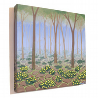 Chernobyl Reclaimed Original Painting - acrylic canvas art of radioactive woods