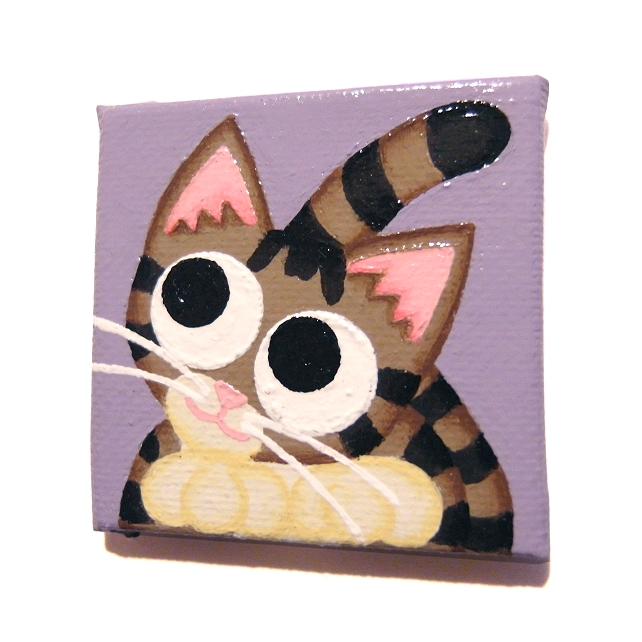 Cartoon Tabby Cat Magnet - original cat art