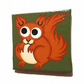 Red Squirrel Magnet - original handpainted fridge magnet with a cute squirrel