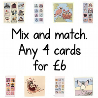 Mix and Match - any 4 greeting cards