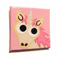 Cartoon Unicorn Magnet - pink and white hand painted fridge magnet