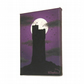 Moonlit Castle Hill Painting - small acrylic art of Huddersfield landmark