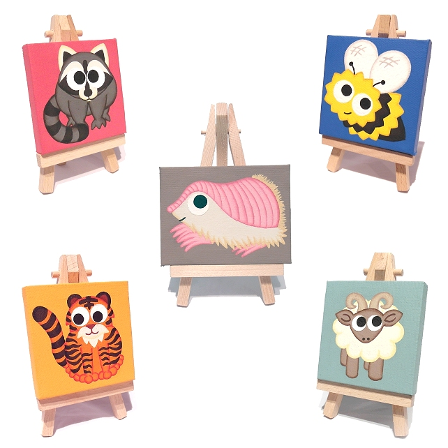 Custom Cute Animal Painting - mini art of your pet or favourite animal