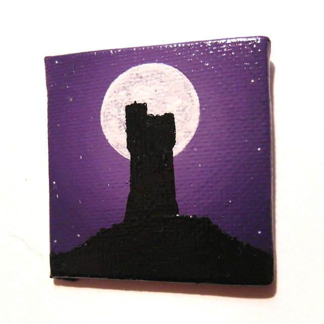 Moonlit Castle Hill Fridge Magnet