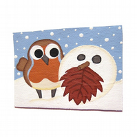 Cute Robin and Snowball ACEO