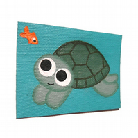 Cartoon Turtle ACEO