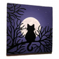 Cat Under the Moon Fridge Magnet
