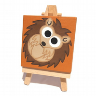 Cute Hedgehog Mini Canvas and Easel