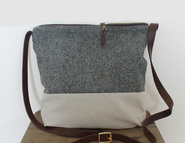 The Knutsford- Wool & Linen Messenger Bag
