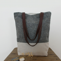 The Knutsford - Wool and Linen Tote Bag