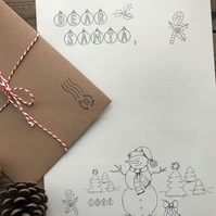 Dear Santa Colouring in Letter