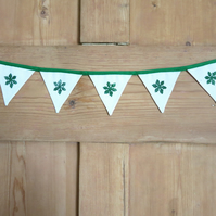 Hand-Stamped Snowflake Bunting