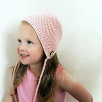 Hand Knitted Hat, Baby Hat, Baby Bonnet, Kids Hat, Childs Hat, Knitted Bonnet