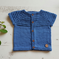 Knitted Baby Cardigan, Kids Cardigan, Childs Jacket, Hand Knitted Baby Clothes