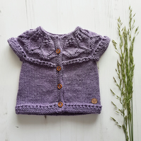Hand Knit Baby Cardigan, Knitted Jumper, Baby Jumper, Cotton Cardigan