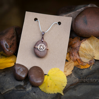 Welsh River Stone Celtic Pendant