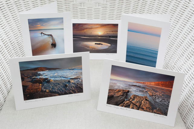Pack of 5 Glamorgan Heritage Coast Blank Greetings Cards